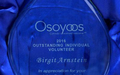 OLWQS volunteer honoured at Osoyoos banquet
