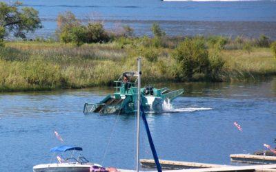June 19 update from the Okanagan Basin Water Board (OBWB) regarding Milfoil harvesting at Solana Bay on Osoyoos Lake