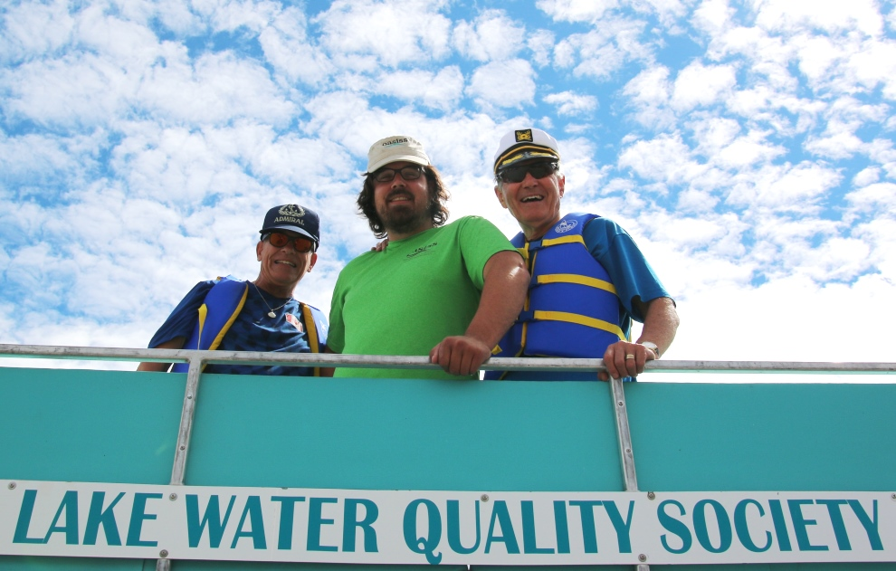 Oasiss visits OLWQS pontoon boat used to measure water quality