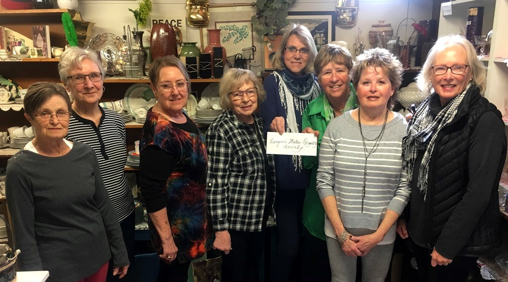 Osoyoos United Church Thrift Shop donates $2000 to OLWQS